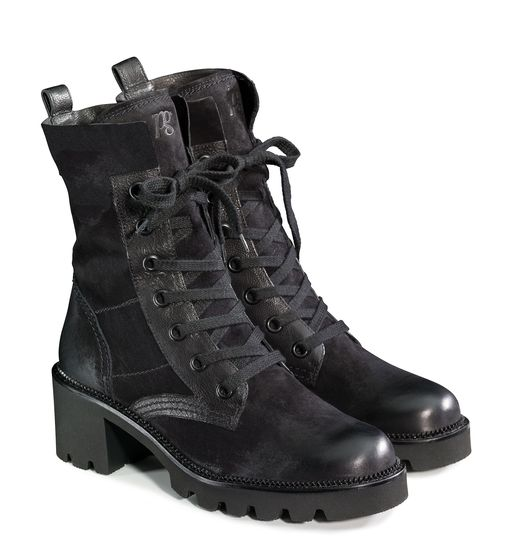 Lace-up booties