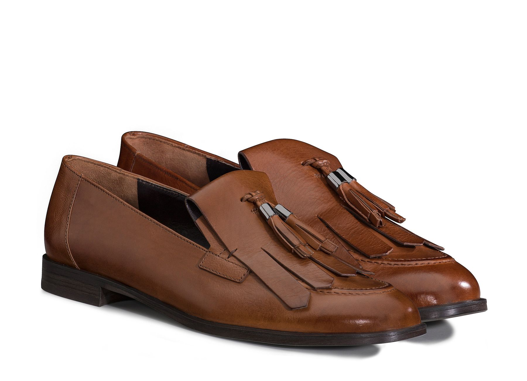 lace up in genuine shoes check out Tassel Loafers in Cognac - Paul Green