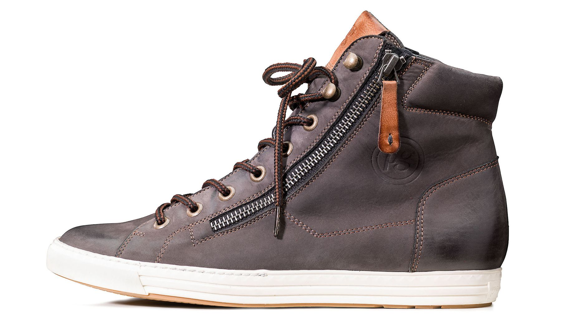 c77b52a10d43d7 Individual lace-up Pauls in grey-brown - Paul Green