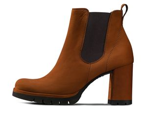 Paul Green 9700-017 Chelsea-Stiefelette in Cognac-Braun