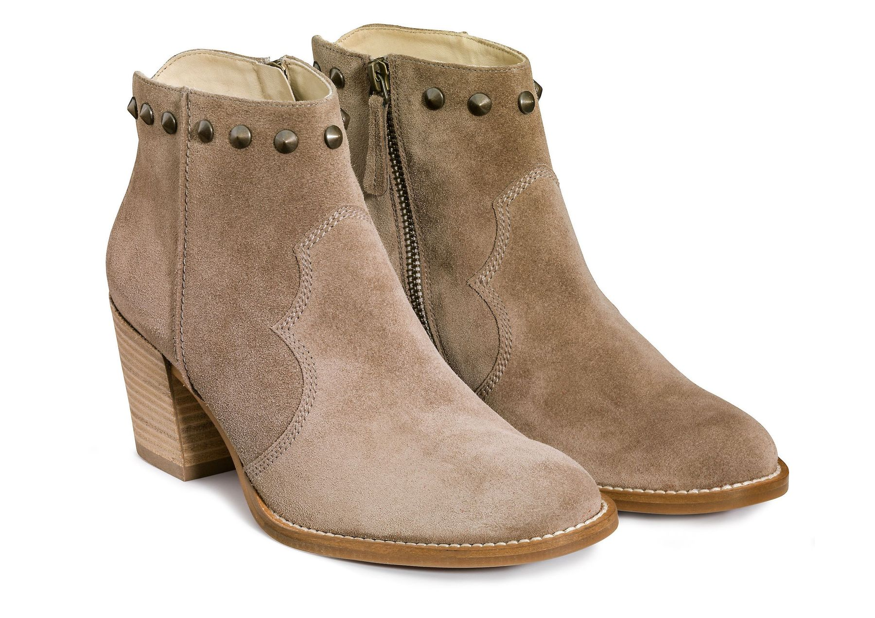 Women's ankle boots, brown with studs Paul Green