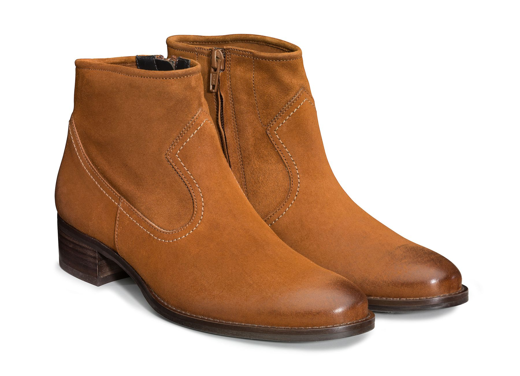 Ankle boots for women in cognac brown Paul Green