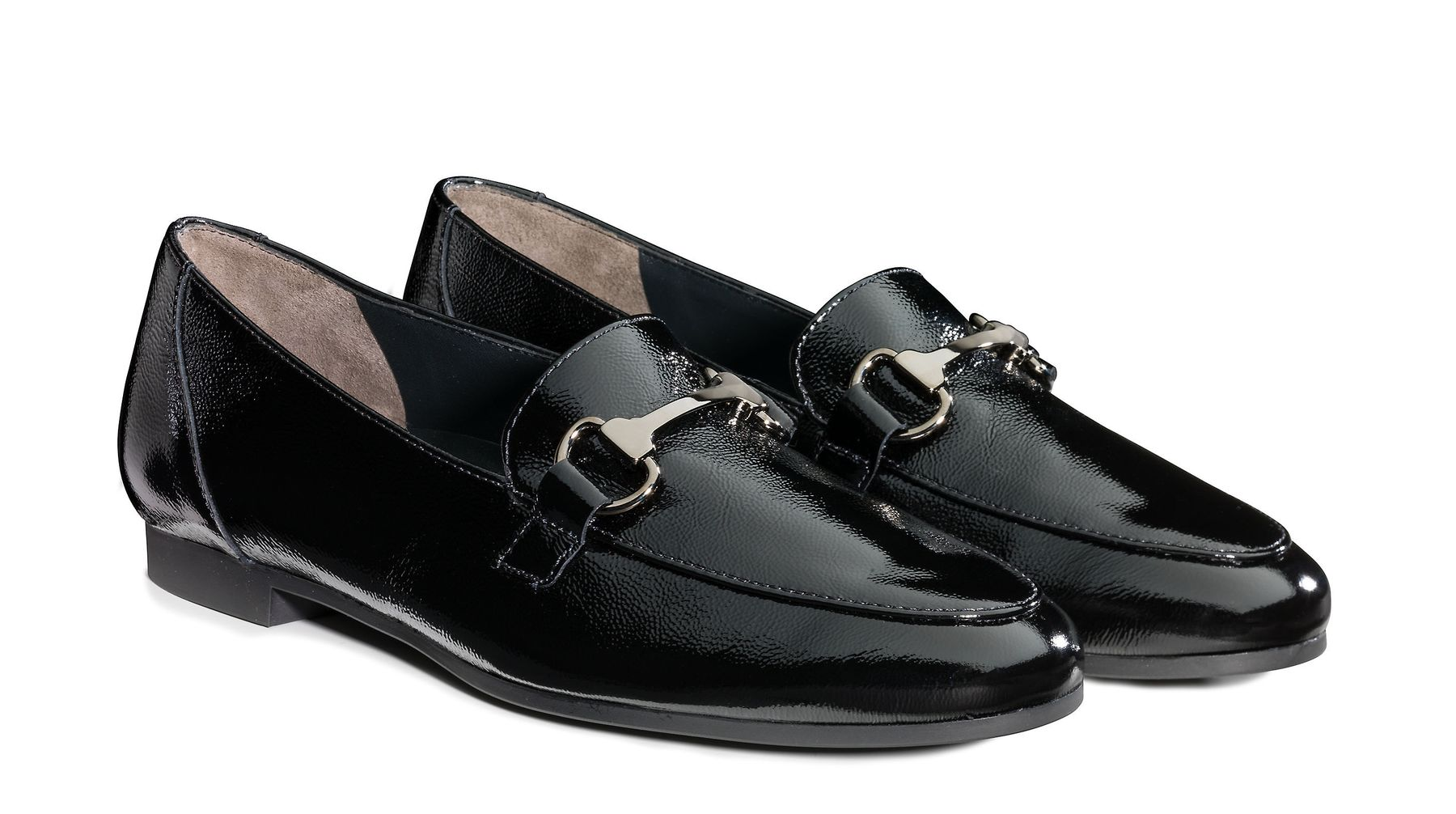 official latest design 2018 shoes Exclusive loafers in black patent leather - Paul Green