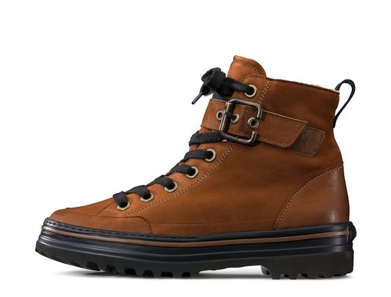 Lace-ups boots with warm lining