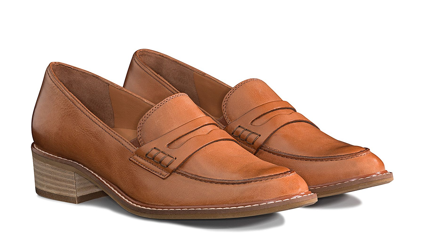 Brauner Loafer in Braun mit Lederrahmen - Paul Green