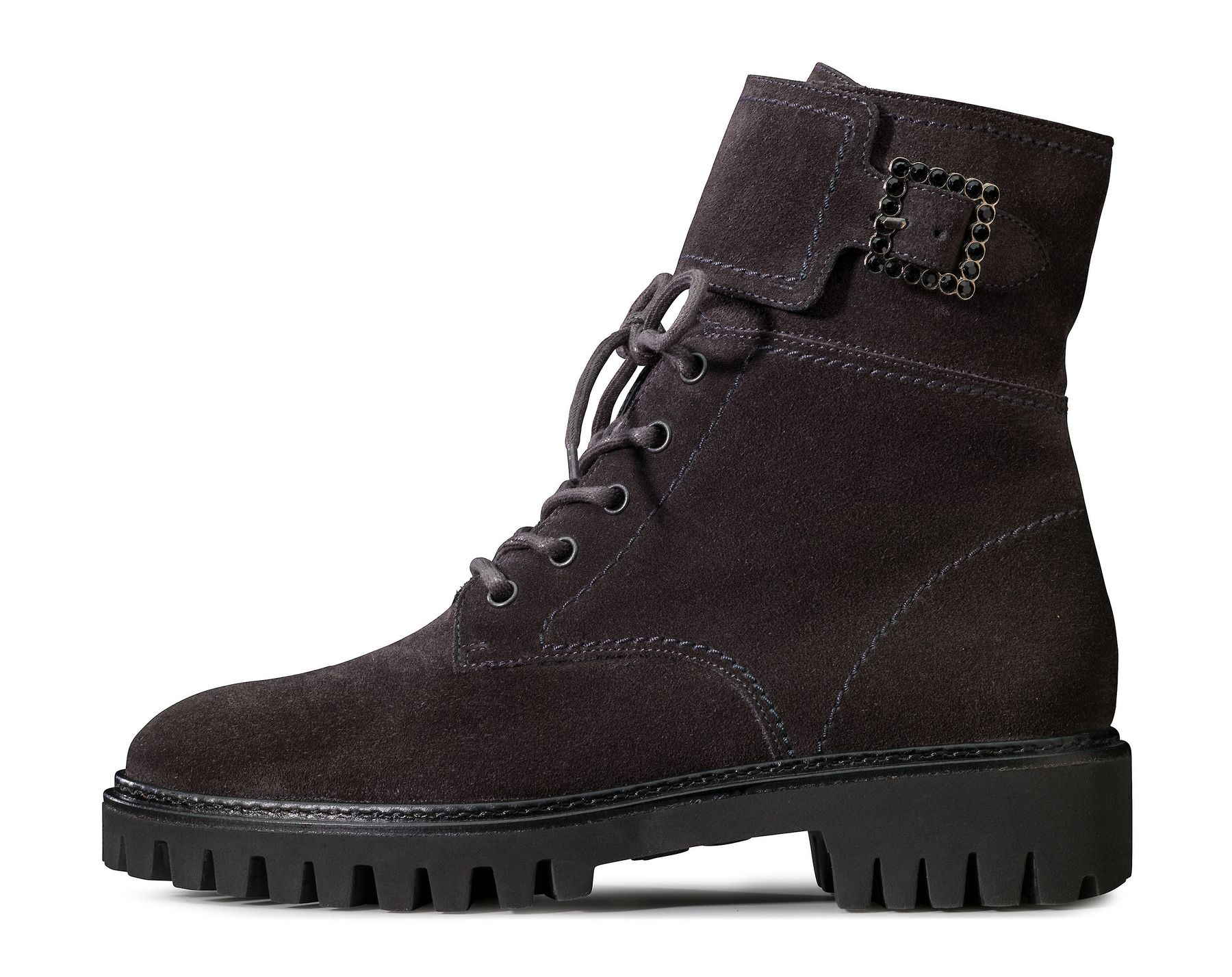 online store 4b69e b1c13 Striking Lace Up Bootie in dark grey - Paul Green