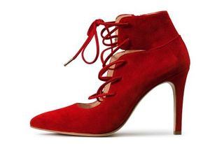 Anziehender High-Heel in Rot