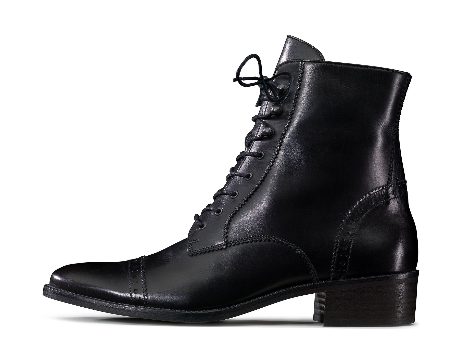 Lace up ankle boots for women in black Paul Green