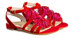 Riemchen Sandale in Rot/Pink - 7240-012 Paul Green