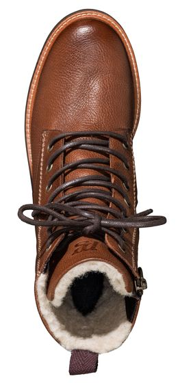 Lace-up boots with warm lining
