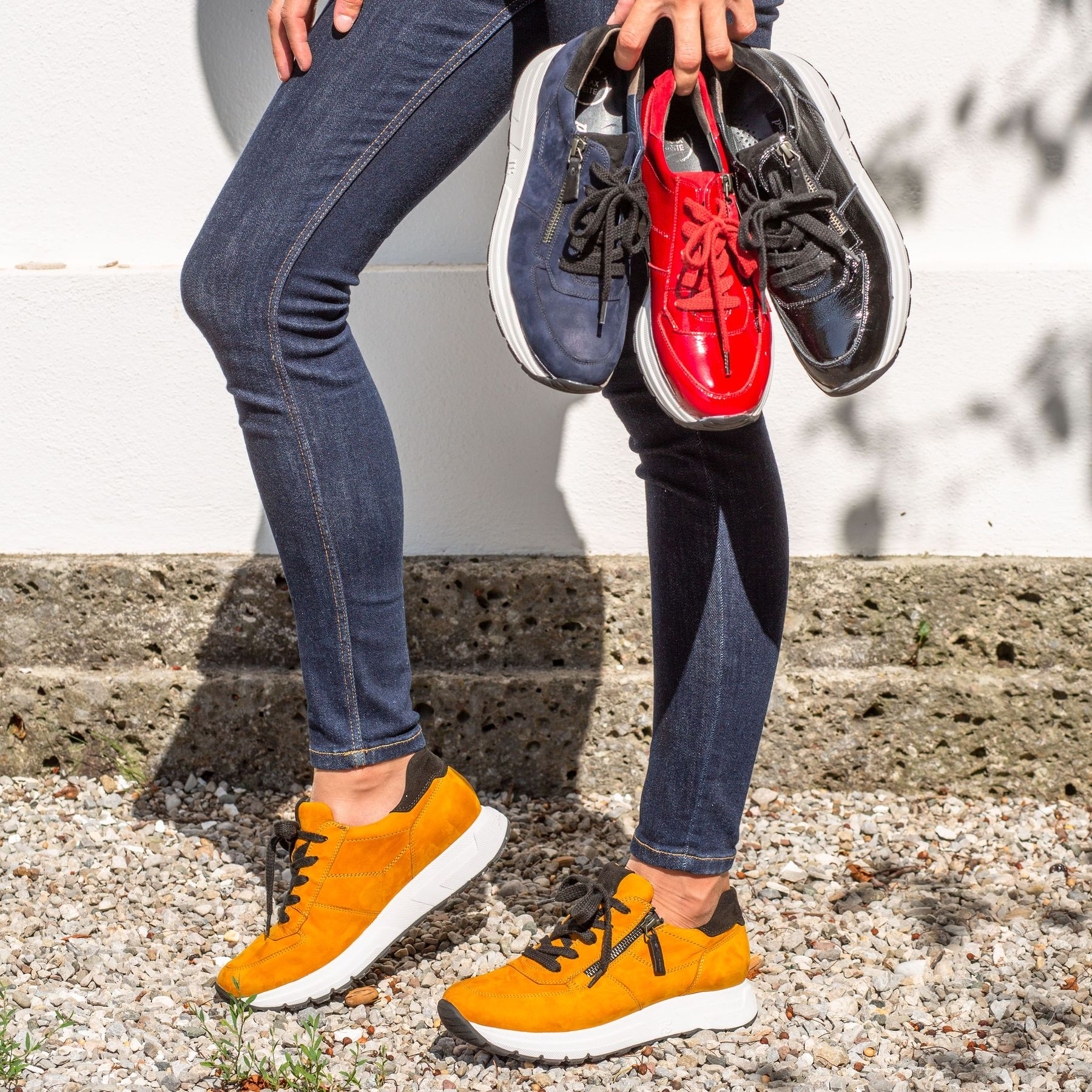 Sneaker mit RELAX WEITE in Chili Rot Paul Green