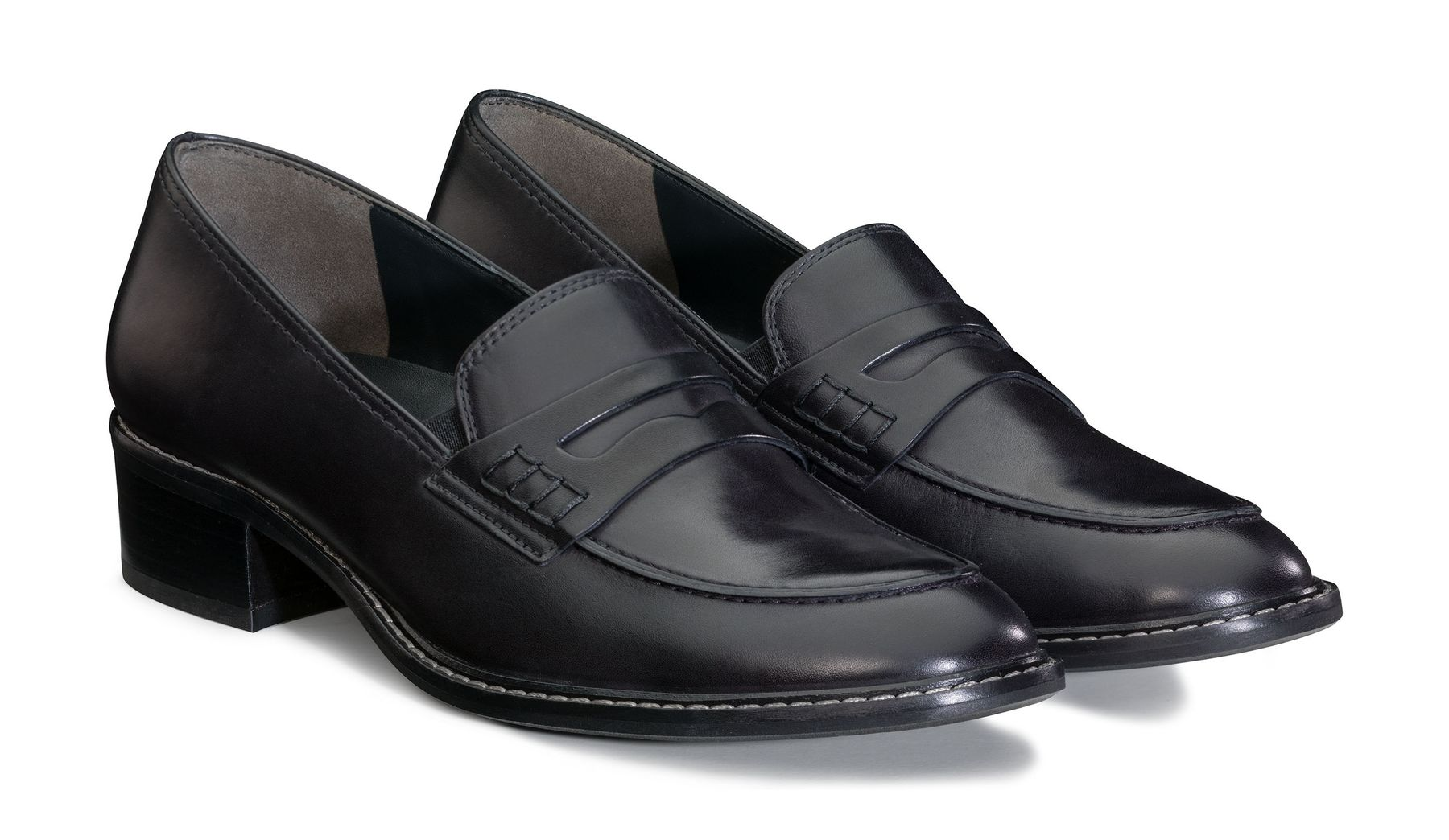 Damen-Loafer mit Lederrahmen in Schwarz - Paul Green