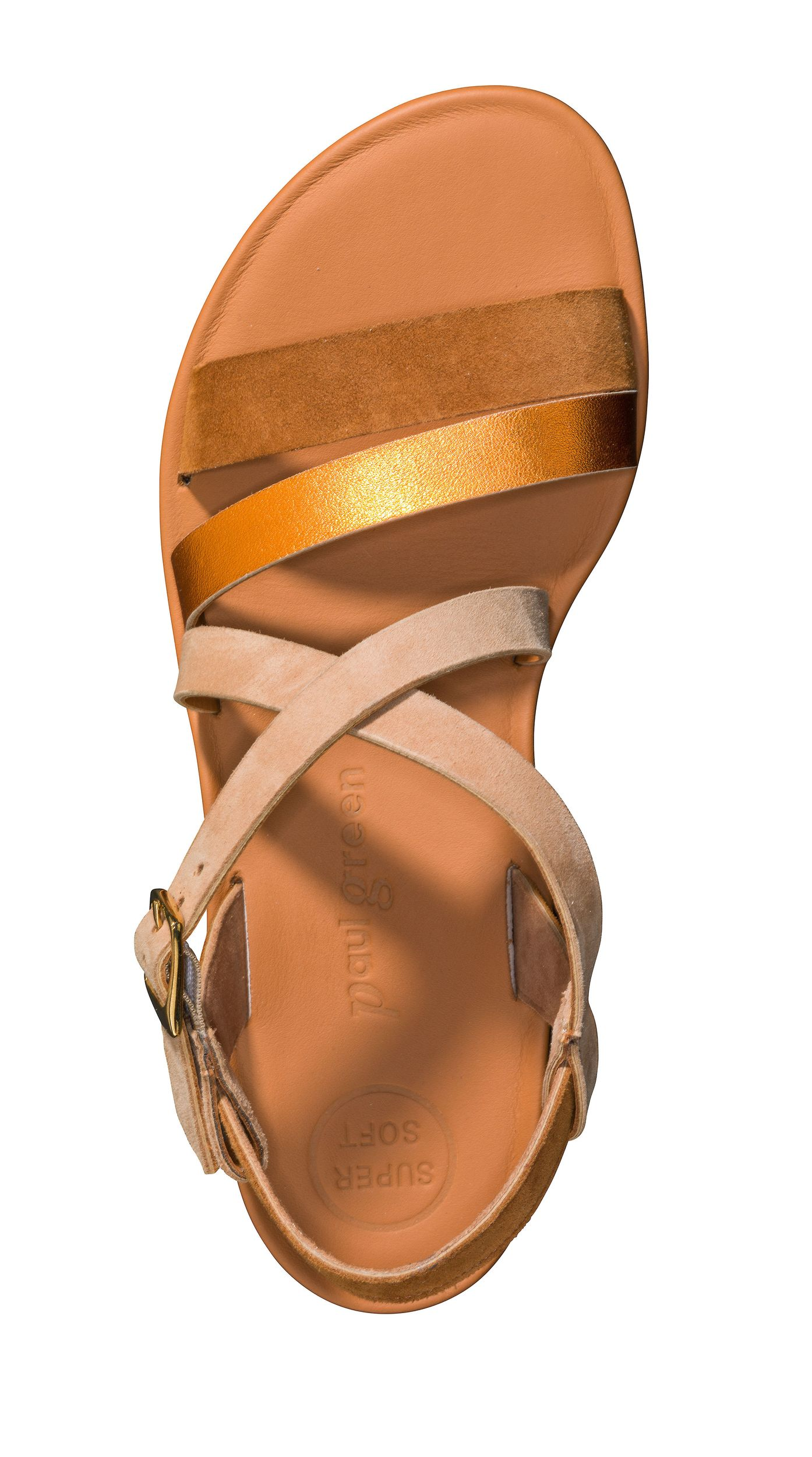 SUPER SOFT sandals in beige and brown