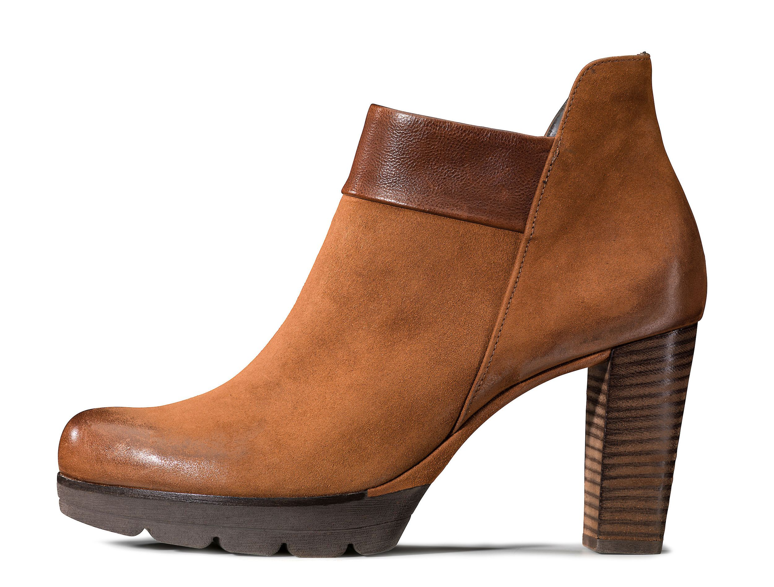 Plateau Ankle Boot In Cognac Brown Paul Green
