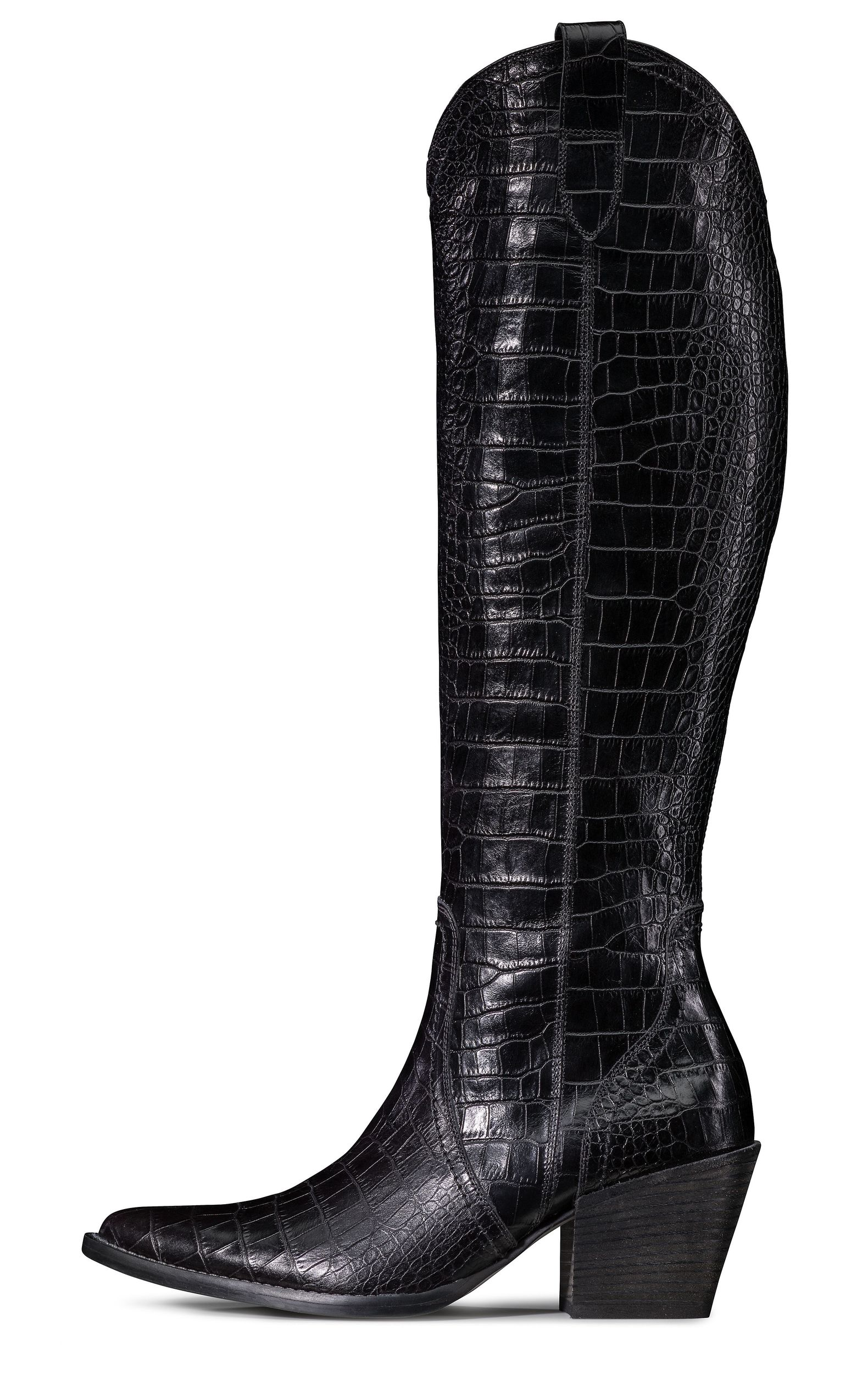 Long shaft boots for women in black Paul Green