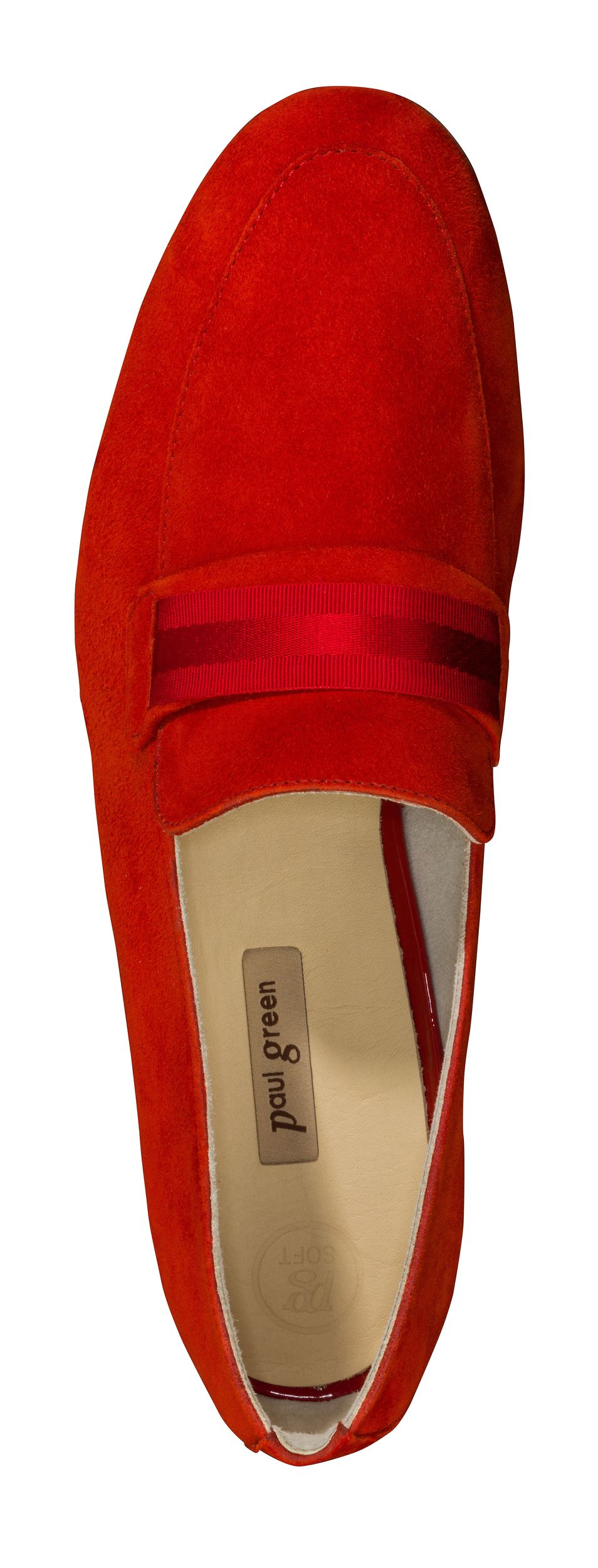 Soft Loafer Red With Satin Ribbon Paul Green
