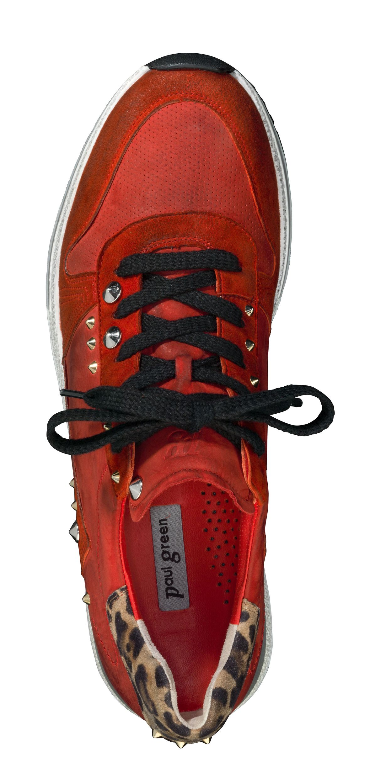 sneakers red with leopard print paul green. Black Bedroom Furniture Sets. Home Design Ideas